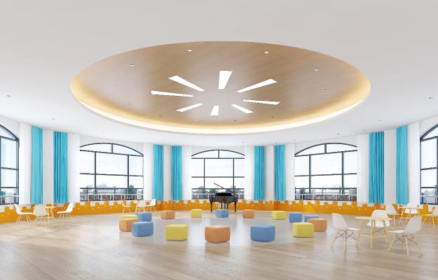 现代幼儿园音体室 活动室 多功能室