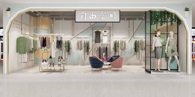 现代轻奢服装店