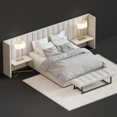 现代床 床头柜 台灯