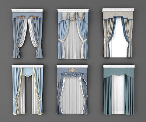 欧式窗帘组合