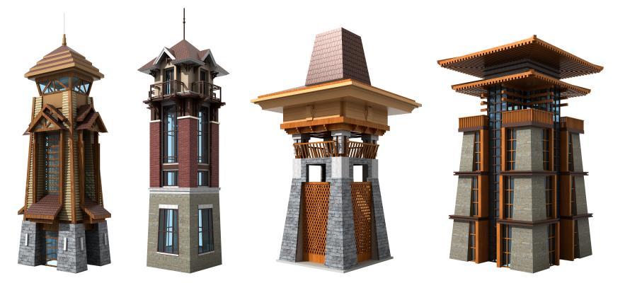 东南亚塔楼 钟楼 钟塔