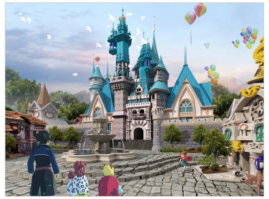 欧式古典游乐场公园 迷宫
