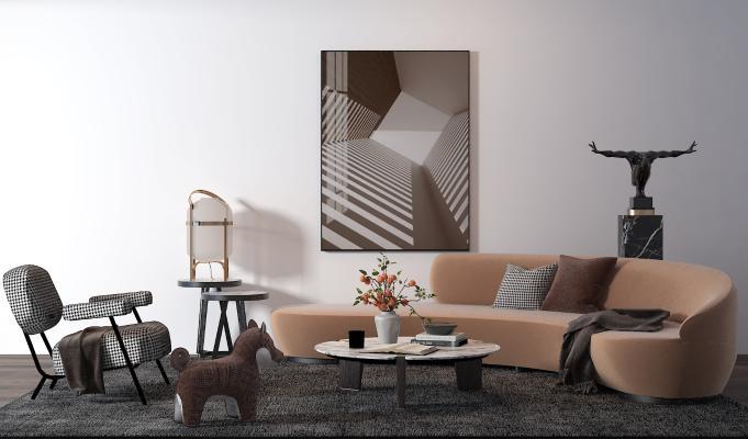 后现代组合沙发
