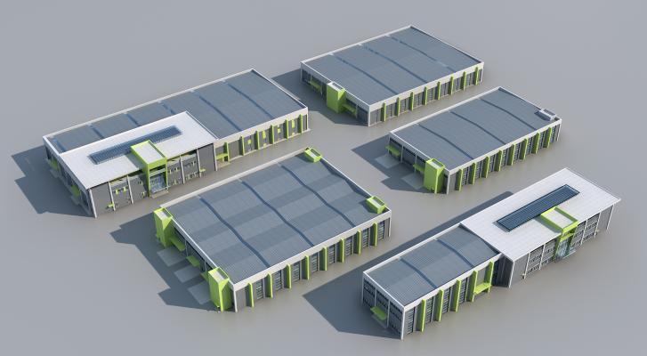 现代工业厂房 办公楼 工业园