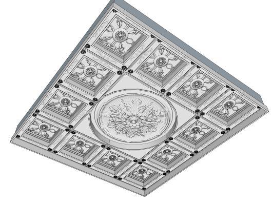 欧式石膏雕花 天花板