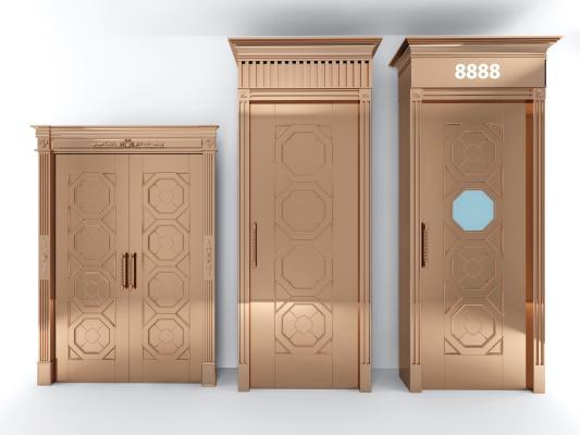现代金属防盗门组合
