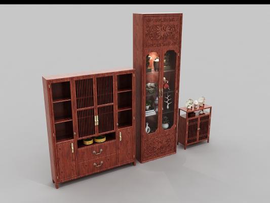 新中式客厅 家具风格装饰柜