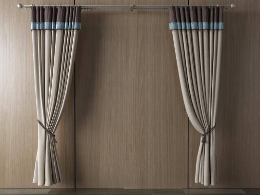 欧式窗帘 挂帘 双层帘 纱帘 布帘