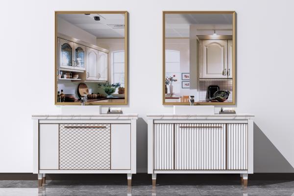 现代洗手台组合 浴室卫浴柜 洗面台盆