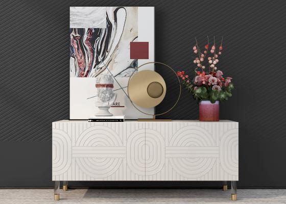现代装饰柜架 边柜