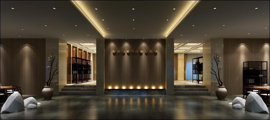 新中式酒店走廊 过道