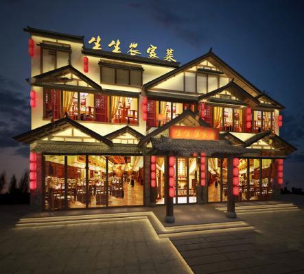 新中式餐飲店門頭