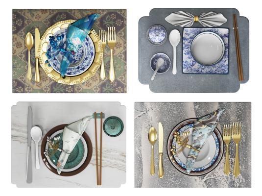 现代风格餐具 盘子