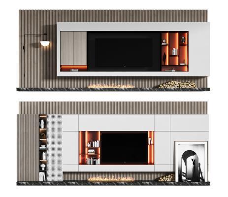 現代電視柜 背景墻