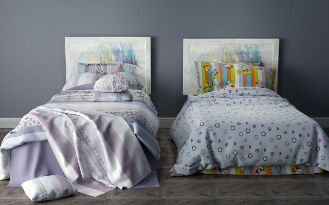 现代单人床 儿童床