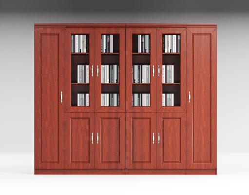 新中式传统办公书柜 实木质文件柜 书橱