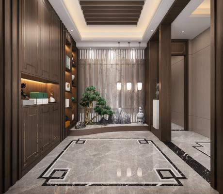 新中式门厅景观
