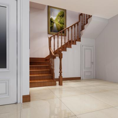 新中式木质转角楼梯