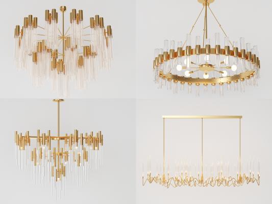 现代风格吊灯 金属水晶吊灯