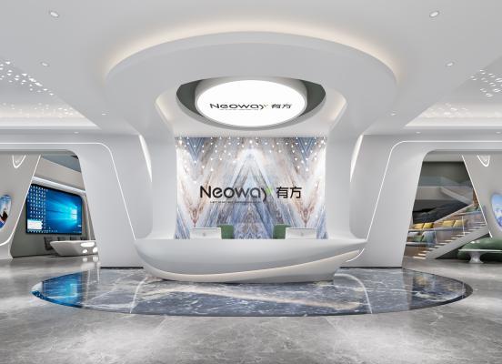 现代科技前台大厅