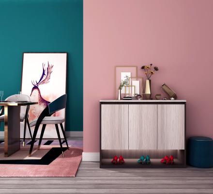现代鞋柜 饰品摆件 餐桌椅
