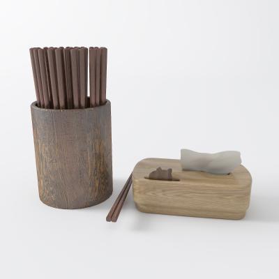 现代纸巾盒 筷子