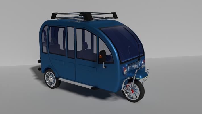 現代電動三輪車