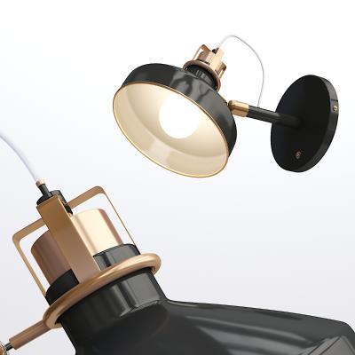 现代烤漆壁灯
