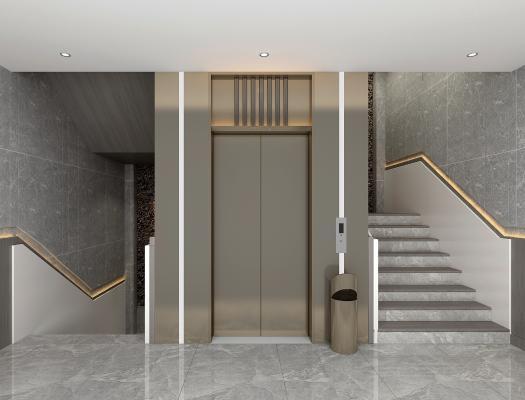 现代楼梯间 电梯间