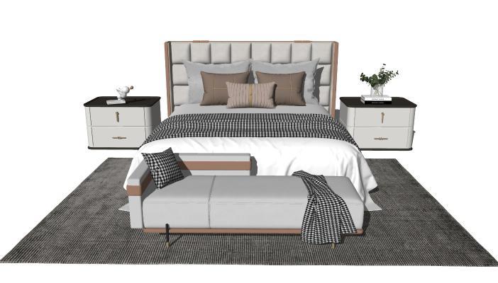 现代轻奢床具组合