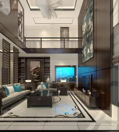 新中式风格复式客厅