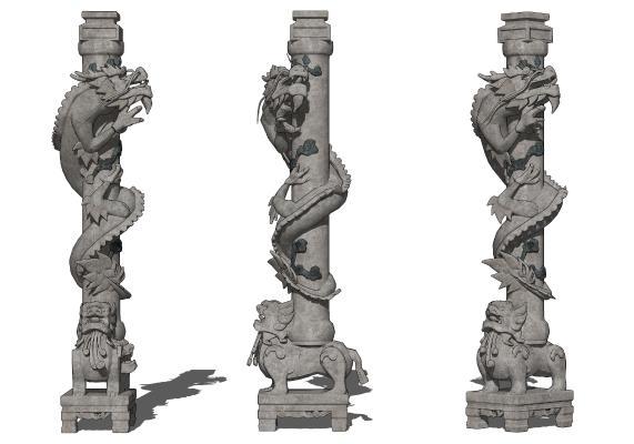 中式盘龙柱