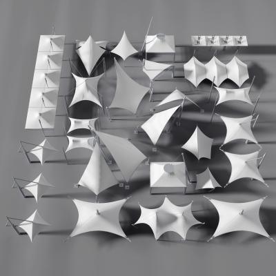 现代张拉膜 张拉膜雨棚 现代舞台 雨棚 景观张拉膜 张拉膜结构 遮阳棚