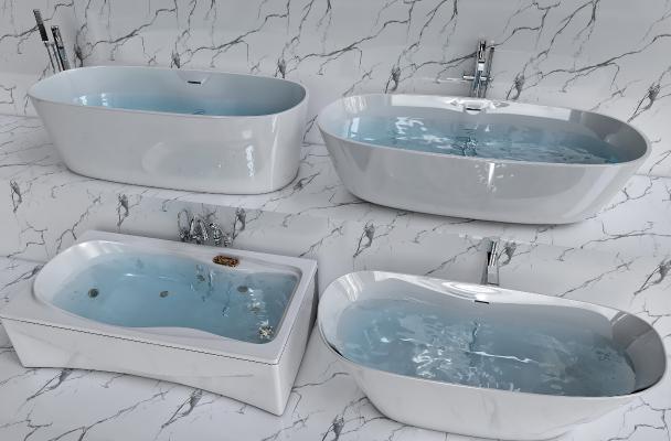 现代陶瓷浴缸组合