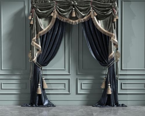 欧式简约窗帘组合