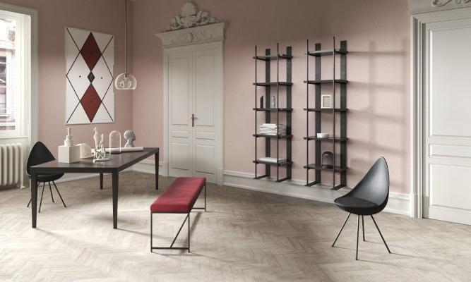 欧式简约书房 书桌椅 装饰架