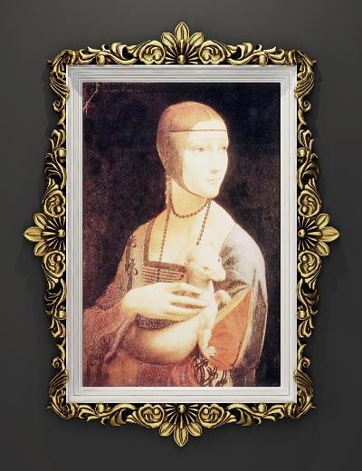 現代歐式金屬雕花裝飾掛畫,畫框鏡框
