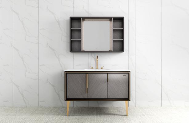 现代风格浴室柜 金属柜