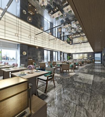 现代新中式中餐厅火锅店