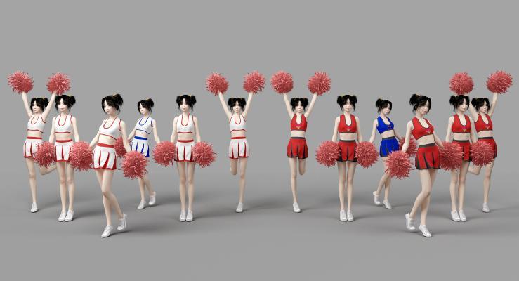 现代啦啦队美女 运动女孩 女性人物