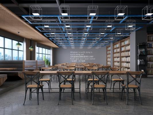 工业风图书馆 阅读室