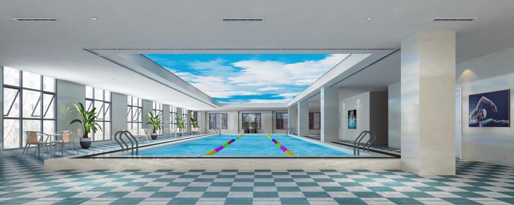 现代游泳池 游泳馆