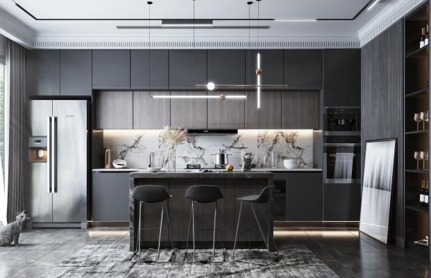 现代风格厨房 开放式厨房