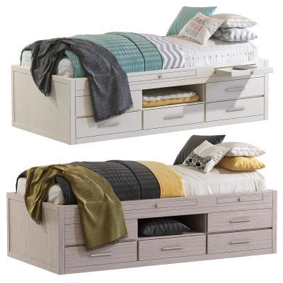 现代单人床 榻榻米 儿童床