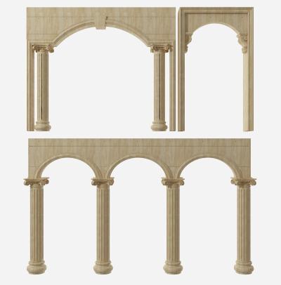 欧式门洞 罗马柱组合