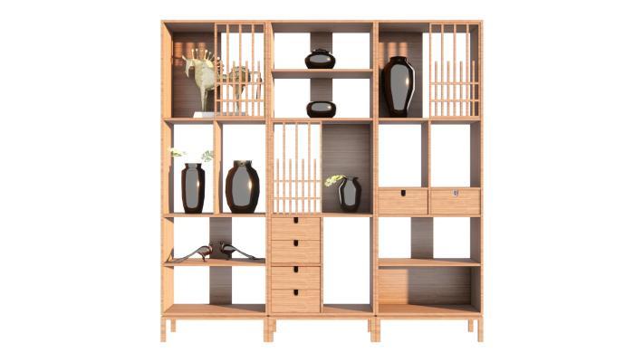 新中式风格博古架 装饰柜