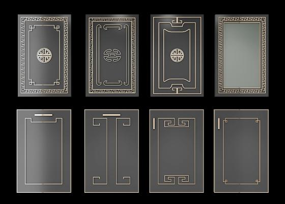 新中式橱柜门板组合