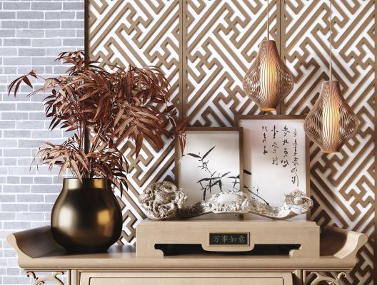 新中式装饰摆件组合