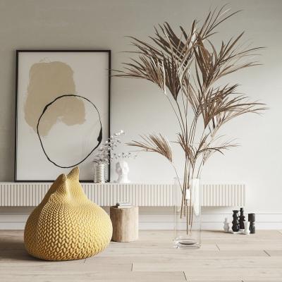 北欧植物懒人沙发组合