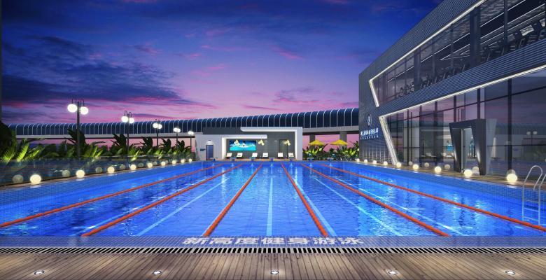 现代室外泳池 户外泳池